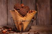 Tasty chocolate ice cream — Stock Photo