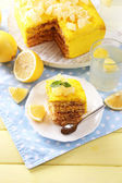 Tasty lemon dessert — Stock Photo