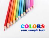 Colore di sfondo di matite — Foto Stock