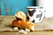 Retro still life with tasty rustic milk — 图库照片