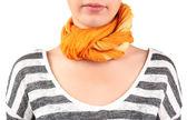 Woman wearing scarf — Stock Photo