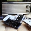 Collection of retro audio tapes — Stock Photo #54836275