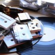 Collection of retro audio tapes — Stock Photo #54836325