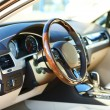 Interior view of car with beige salon and black dashboard — Stock Photo #54842497