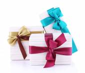 Beautifully packaged gifts — Стоковое фото