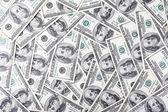 Lotto di banconote da cento dollari — Foto Stock