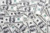 Lot of one hundred dollar bills — Stock Photo