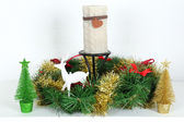 Beautiful Christmas decorations close-up — Stok fotoğraf