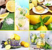 Collage of fresh limes and lemons — Stock Photo