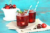 Cherry granita in glasses — Stock Photo