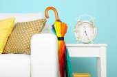 Umbrella in home interior — Stock Photo