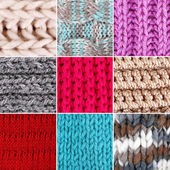 Knitted fabric collage — Stock Photo