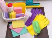 クリーニング製品やツールのコレクション — ストック写真