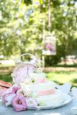 Vacker bröllopstårta — Stockfoto
