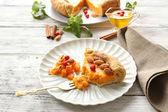 Homemade pumpkin pie — Stock Photo