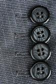 Buttons on clothes close up — Foto de Stock
