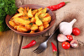 Homemade fried potato — Stock Photo