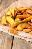 Homemade fried potato with spices — Stockfoto