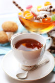 Cup of tea on table, close up — Stock Photo