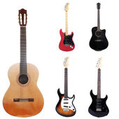 Collage of modern guitar — Stock Photo