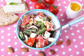 Fresh breakfast consisting of vegetable salad served on the table — ストック写真