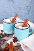 Cups of tasty hot cocoa — Fotografia Stock