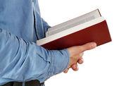 Man holding Bible — Stock Photo