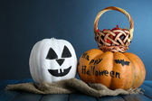 White Halloween pumpkins — Stock Photo