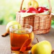 Apple cider in glass — Stock Photo #55734839