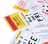 Coupons for shopping — Stock Photo