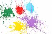 Colorful splashes of paint — 图库照片