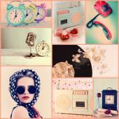 Retro collage — Stock Photo