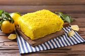 Lekkere citroen taart — Stockfoto