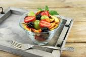 Fresh tasty fruit salad — Foto de Stock