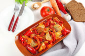 Vegetable ragout on table, close-up — Stock Photo