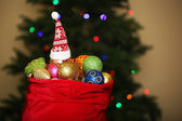 Toys on Christmas tree — Stock Photo