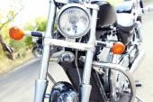 Motor bike headlight, close-up — Photo