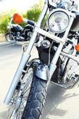 Motor bike headlight, close-up — Stock Photo