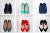 Colorful female shoes — Stock Photo