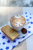 Cup of coffee with cute drawing — Foto de Stock