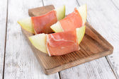 Delicious melon with prosciutto — Foto Stock