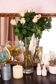 Beautiful vase with roses — Foto de Stock