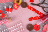 Scrapbooking craft materials — Stock Photo
