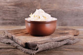 Butter in bowl — Stock Photo