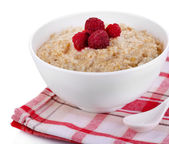 Oatmeal with berries — Stock Photo