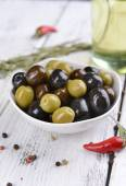 Different marinated olives — Foto de Stock