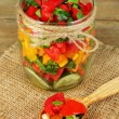 Vegetable salad in glass jar — Stock Photo #56110193