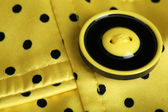 Button on clothes close up — Stock Photo