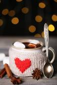 Cup of tasty hot cocoa — Stockfoto