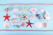 Sea souvenirs background — Stock Photo